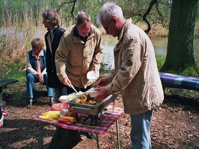 Picknick am westlichen Seeufer