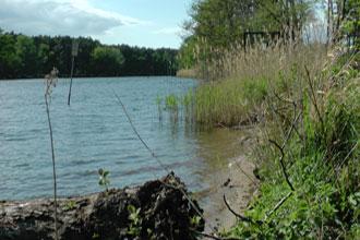 Fundstelle im Klietzer See, neben dem ehemaligen NVA-Objekt