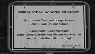 Militärischer Sicherheitsbereich Klietzer Truppenübungsplatz