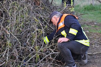 06 Arnim Glimm, der Chef der Scharlibber Feuerwehr