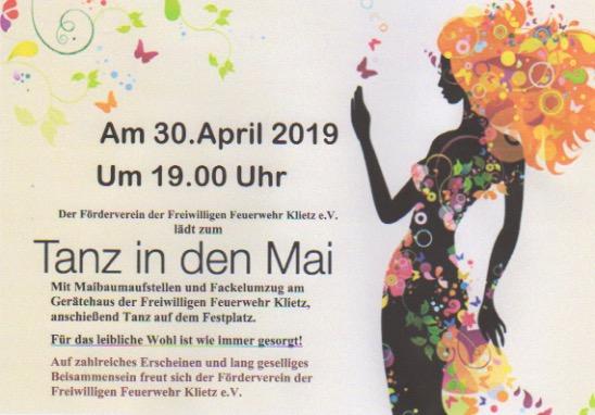 Einladung Tanz in den Mai